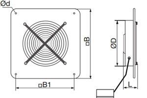 APFV OV1 Ipari axiál ventilátor méret