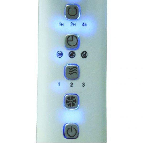 ARDES 5D41PRW álló ventilátor távirányítóval, fehér, kezelőpanel