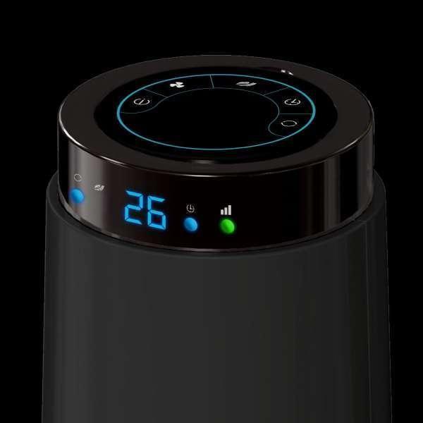 ARDES 5T85R oszlop ventilátor távvezérlővel, fekete, gomb