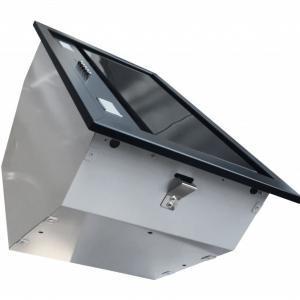 Airmec BUILT-IN 50 MAX VETRO fekete konyhai páraelszívó