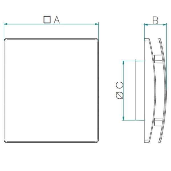 BCRG design légszelep méretei