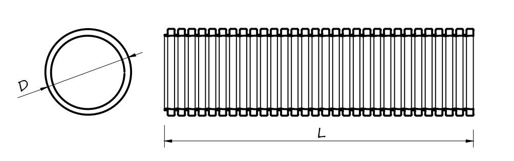 CF-75 flexibilis műanyag cső méretei