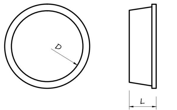 CF ZA-DN75 vegdugo CAIRFLEX szellozocso rendszerhez meretek