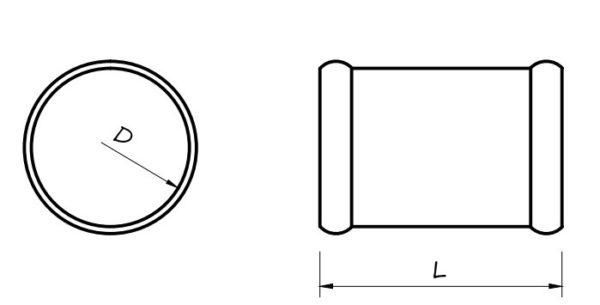 Csőösszekötő flexibilis szellőzőcső rendszerhez méretei