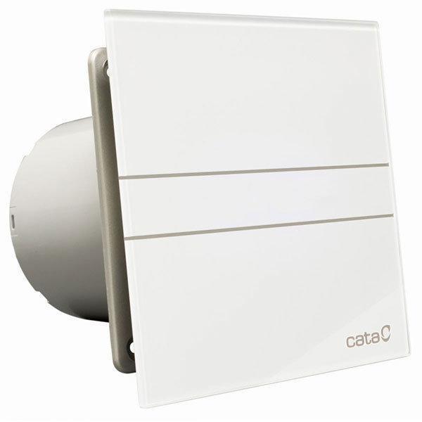 CATA E-GLAS fürdőszoba ventilátor üveg előlappal, időzítővel