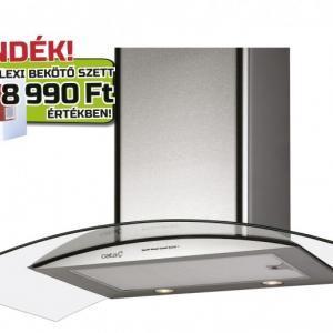 Cata GAMMA GLASS 900 GX/E LED konyhai páraelszívó