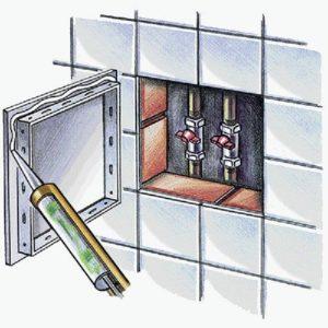 VENTS D műanyag szervizajtó beépítése