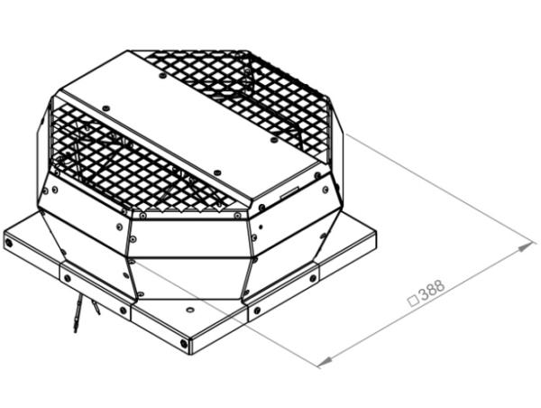 DVA tetőventilátor függőleges kifújással 3D
