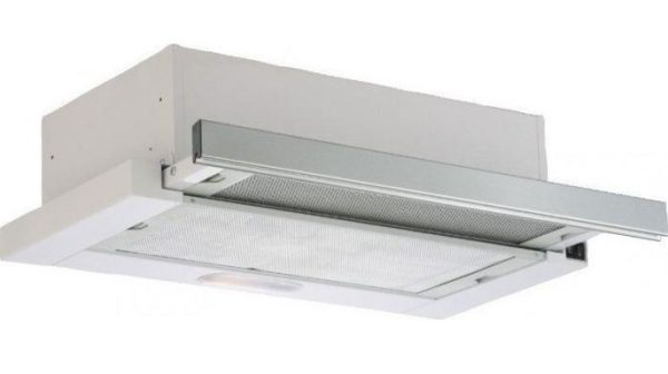Davoline WHITE IX-50 D fehér-inox LED konyhai páraelszívó