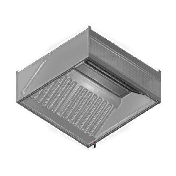 Fali ipari elszívó ernyő 1 sor labirintszűrővel frontlemezes előlapos frisslevegő befúvással