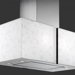 Falmec ALPHABET üveg (Square 97 fali) Mirabilia páraelszívókhoz - A készlet erejéig rendelhető! konyhai páraelszívó