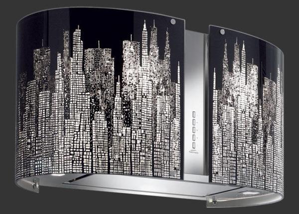 Falmec MANHATTAN üveg (Round 67 fali) Mirabilia páraelszívókhoz konyhai páraelszívó