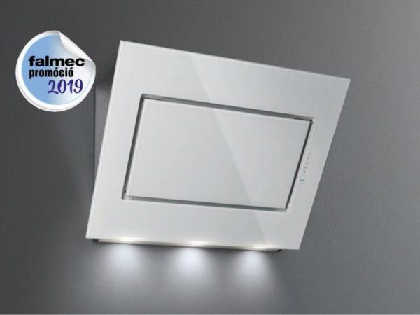 Falmec QUASAR EVO GLASS 80 fehér konyhai páraelszívó