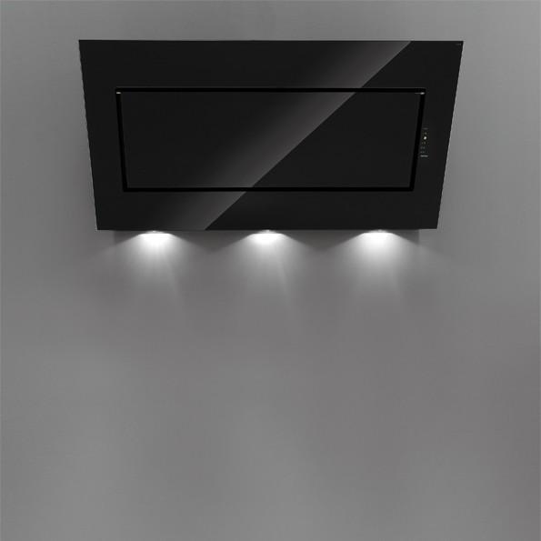Falmec QUASAR EVO GLASS 80 fekete konyhai páraelszívó