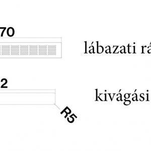 Falmec FALMEC lábazati rács H60 Páraelszívó tartozékok Egyéb tartozékok - Ventilátorbolt.hu Légtechnika
