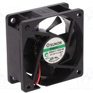 SUNON 12VDC 60x60x25mm VAPO csapágyas műszerventilátor MB60251V1-A99
