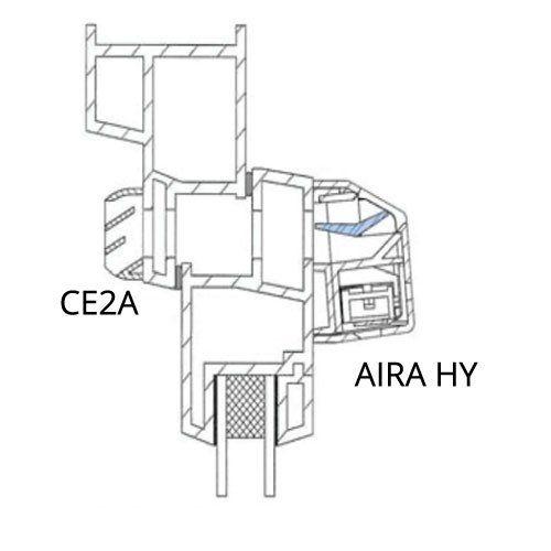 AIRA-HY nyílászáróba építhető higroszabályozású légbeeresztő beszerelése