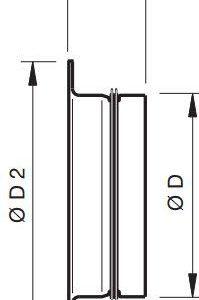 APG csatlakozó csonk gumi tömítéssel méretei