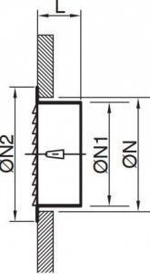 BLR-0-R Kör keresztmetszetű alumínium esővédő rács méretei