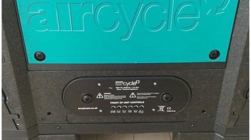 Brookvent Aircycle 3.1 központi hővisszanyerős szellőztető kezelő panel