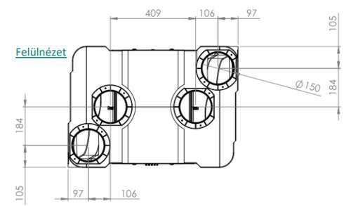 Brookvent Aircycle 3.1 központi hővisszanyerős szellőztető méretei 2