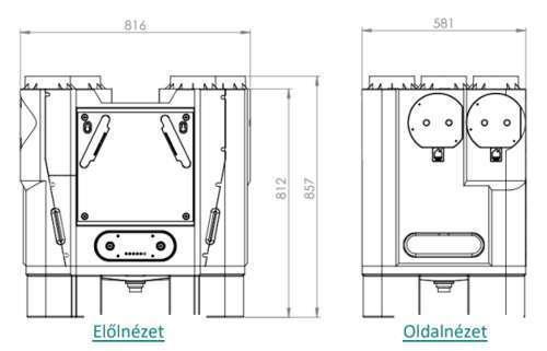 Brookvent Aircycle 3.1 központi hővisszanyerős szellőztető méretei 1