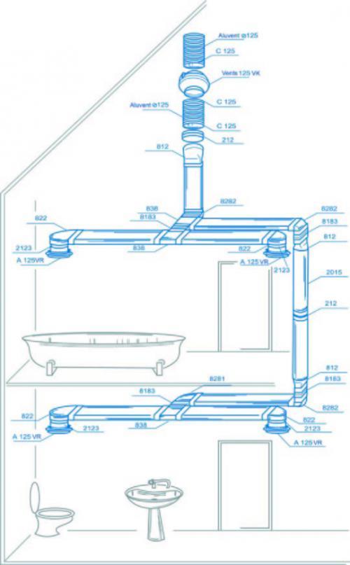 Elszívó-szellőző rendszer kiépítése lakóépületben