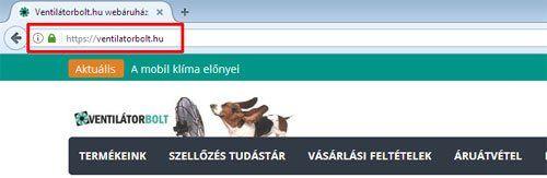 HTTPS protokol Firefox böngészőben
