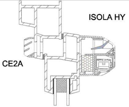 ISOLA-HY páratartalom szabályozású ablak légbevezető felépítése