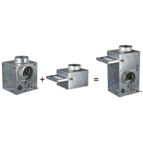 kandallo ventilátor és szűrő összeépítése