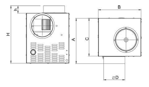 CFV kandalló ventilátor méretei