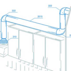 szellőztető rendszer kiépítése műanyag merev körcsatornával