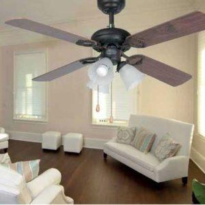 Lisboa barna mennyezeti ventilátor lámpával