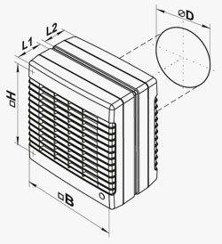 VENTS MAO ablakventilátor méretei