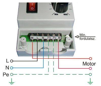MSC 105 fordulatszám szabályozó bekötése