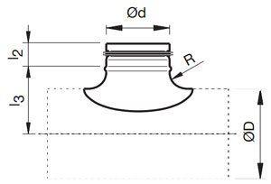 Nyeregidom spirálkorcolt légcsatornához gumitömítéssel méretek