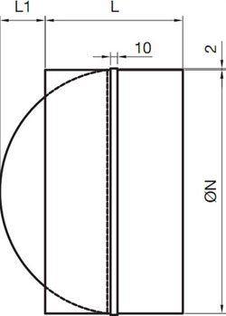 OKA-A visszacsapó szelep méretei