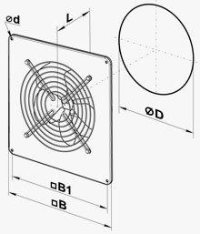VENTS OV ipari axiál ventilátor méretei