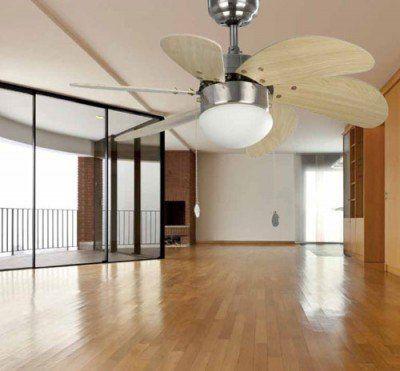 Palao nikkel mennyezeti ventilátor lámpával