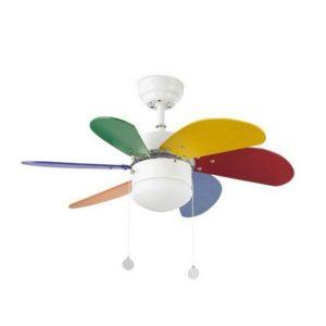 Palao színes mennyezeti ventilátor lámpával