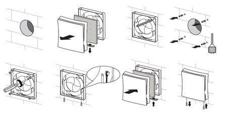 PS-101 Fali légbeeresztő beszerelése