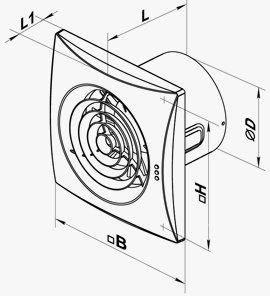 Quiet halk fürdőszoba wc ventilátor