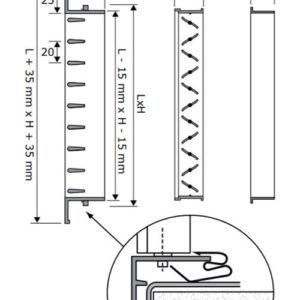 SHN fehér acél szellőzőrács beépítése