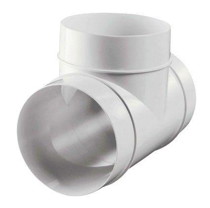 Műanyag T idom légcsatornához