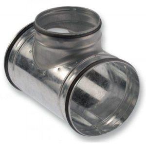 Fém légcsatorna T idom gumi tömítéssel
