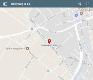 Ventilátorbolt webáruház címe, térkép