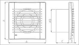 Vokker fürdőszoba szellőztető ventilátor méretei