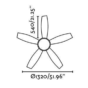 VANU mennyezeti ventilátor méretek 2