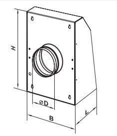 VCN radiális elszívó ventilátor kis és közepes helyiségek szellőztetésére