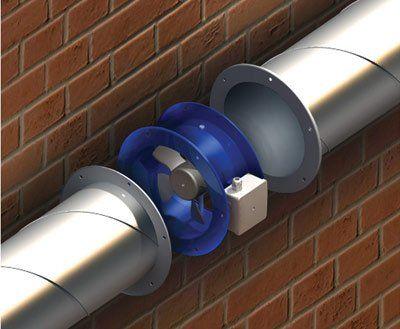 VENTS VKF csőperemes axiál ventilátor beépítése